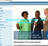 """Screenshot der Internetseite """"REP-Mittelfranken"""""""